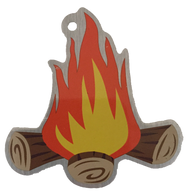 Blaze the Campfire Travel Tag