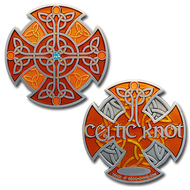 Celtic Knot - Antique Silver (Orange) XLE