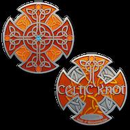 Celtic Knot - Antique Silver (Orange) XLE