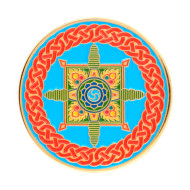 Dharmachakra Geocoin - Polished Gold
