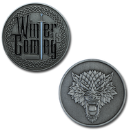 Dire Wolf - Winter is Coming - Antique Silver