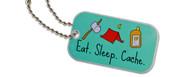 Eat Sleep Cache Travel Tag