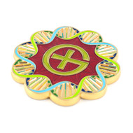 DNA Adenine Geocoin - Polished Gold