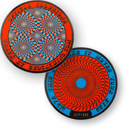 Optical Illusions Geocoin - Retina Burning Red