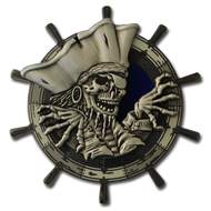 Pirates of Idylwood - Black Nickel with Antique Silver