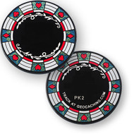 Poker Casino Geocoin - Black