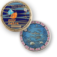 ReefCheck Geocoin - Polished Gold