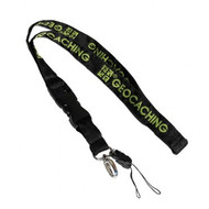 Small Black/Green GC Woven Lanyard