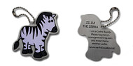 Zelda the Zebra Travel Tag