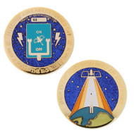 Original Blue Switch Geocoin- Limited Edition Gold Finish