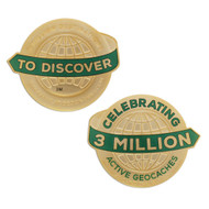 3 Million Geocaches Geocoin- Gold