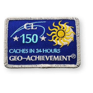 150 Finds in 24 Hours Geo-Achievement™ Patch