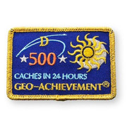 500 Finds in 24 Hours Geo-Achievement™ Patch