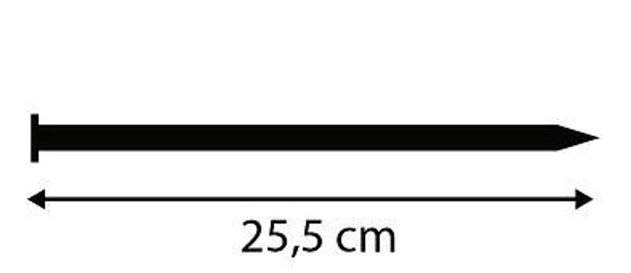 Length of plastic edging nails