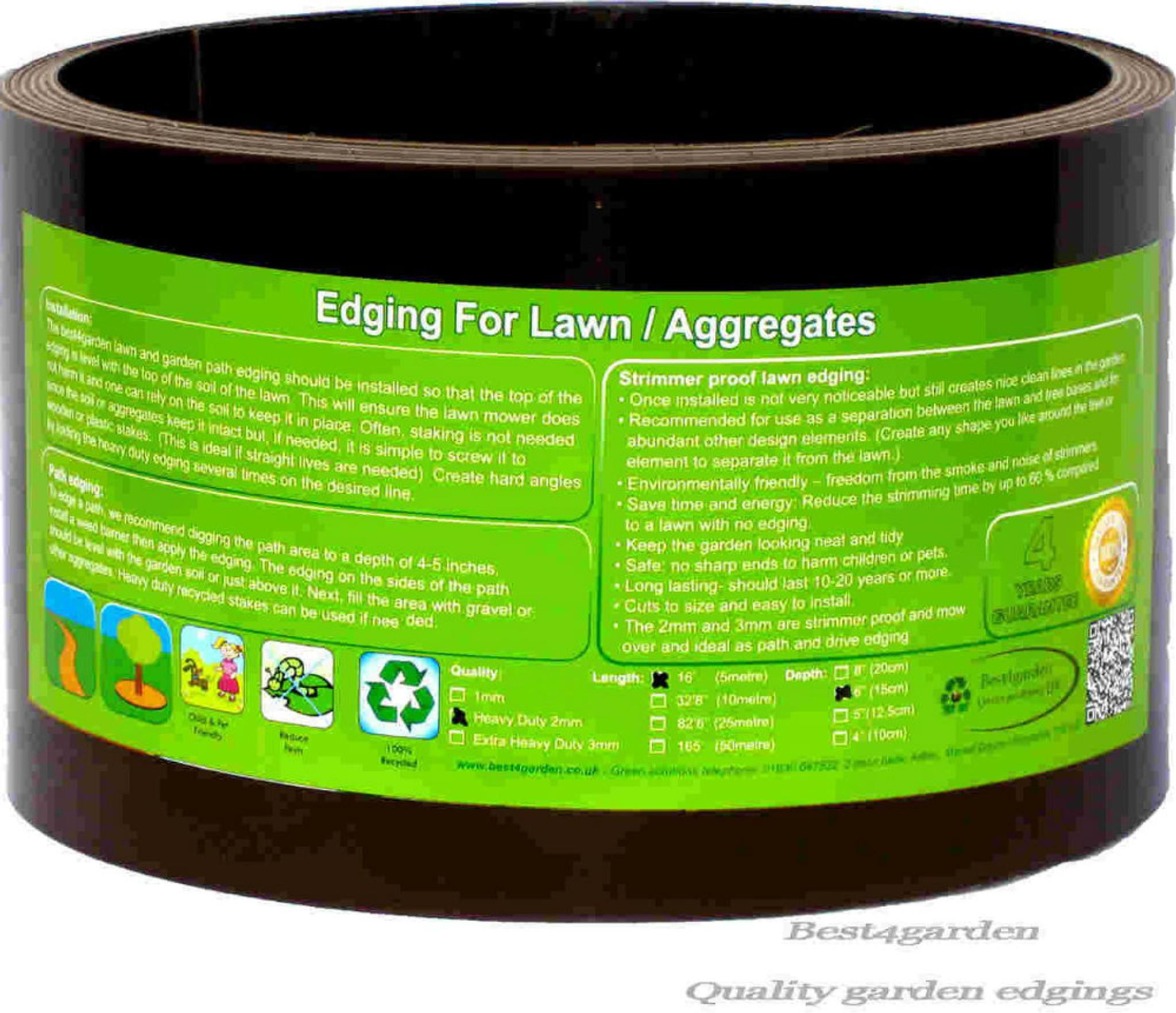 Plastic Lawn edging