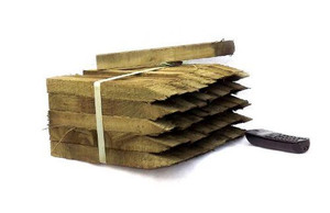 Wooden tantalised stakes