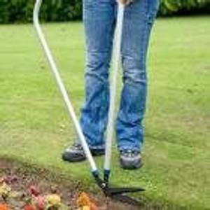 Garden shears on lawn edging