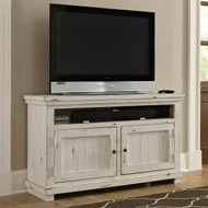 "Willow 54"" TV Stand: Distressed White"