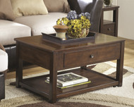 Marion Lift Top Cocktail Table: Dark Brown