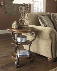 Nestor Chair Side End Table: Medium Brown