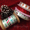 """Our entire collection of 5/8"""" satin holiday ribbons mix and match to make your gifts and favors look oh so festive!"""