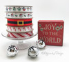 """Candy Cane Stripe ribbon in red printed on 5/8"""" white single face satin, 10 Yards"""