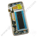 OEM Samsung Galaxy S7 Edge G935A Complete AMOLED & Digitizer Assembly with Front Housing - Gold