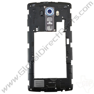 OEM LG G4 LS991 Rear Housing with Loud Speaker Module - Gray