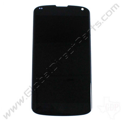 Aftermarket LCD & Digitizer Assembly Compatible with LG Google Nexus 4 E960 - Black