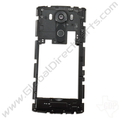 OEM LG V10 Rear Housing with Loud Speaker Module - Black