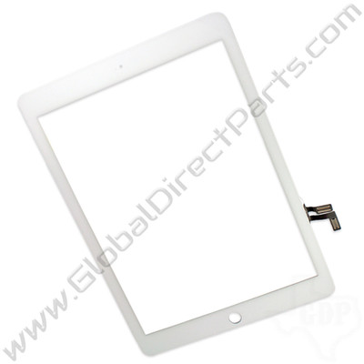 Aftermarket Digitizer Compatible with Apple iPad Air [Not Including Home Button Assembly] - White