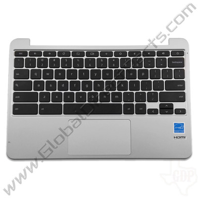OEM Reclaimed Asus Chromebook C201P Keyboard with Touchpad [C-Side] - Black