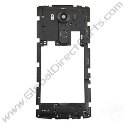 LG V10 VS990, H901 Rear Housing with Loud Speaker Module - Black
