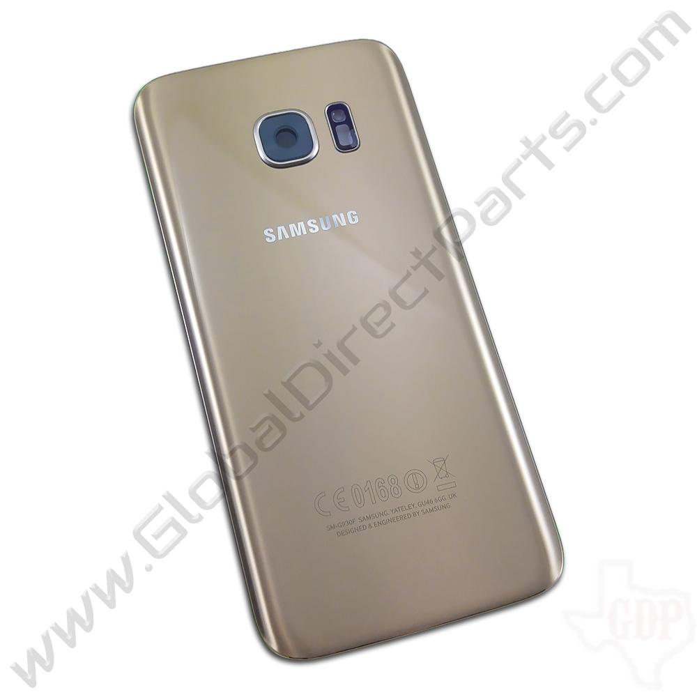 samsung yateley. oem samsung galaxy s7 g930f battery cover - gold yateley o