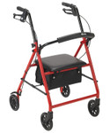 "Padded Rollator w/ 6"" Wheels R800 by Drive"