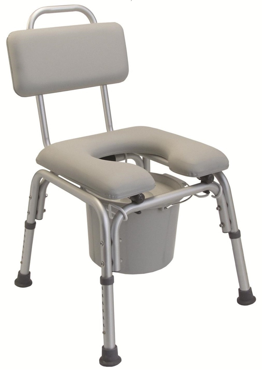 Lumex 7946A Padded Commode Bath Chair