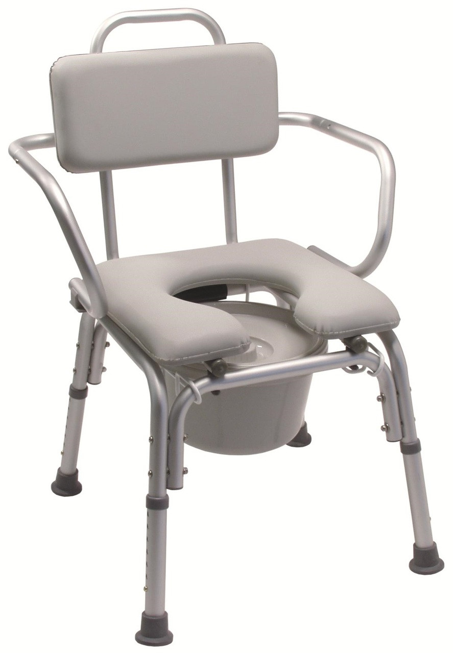Lumex 7947A Padded Commode Bath Chair