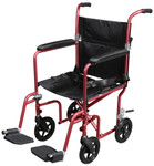 Drive Flyweight Lightweight Transport Chair Removable Wheels