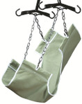 Canvas Patient Sling with Commode Opening GF113-C-LC by Lumex