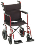 "Nova 330 Transport Chair w/ 12"" Wheels, Handbrakes"