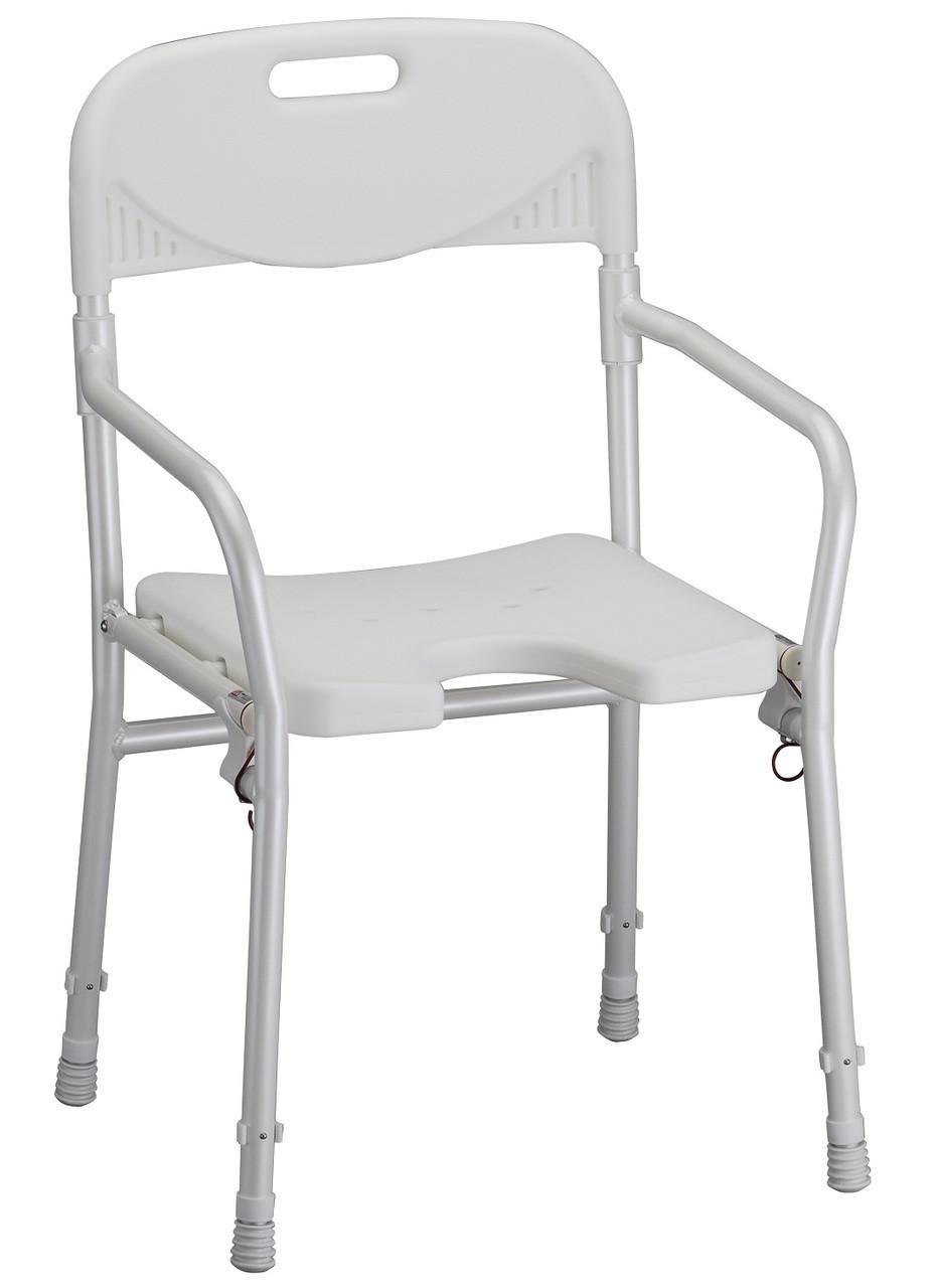 Nova 9400 Folding Bath Chair w/ Arms & Cut Out