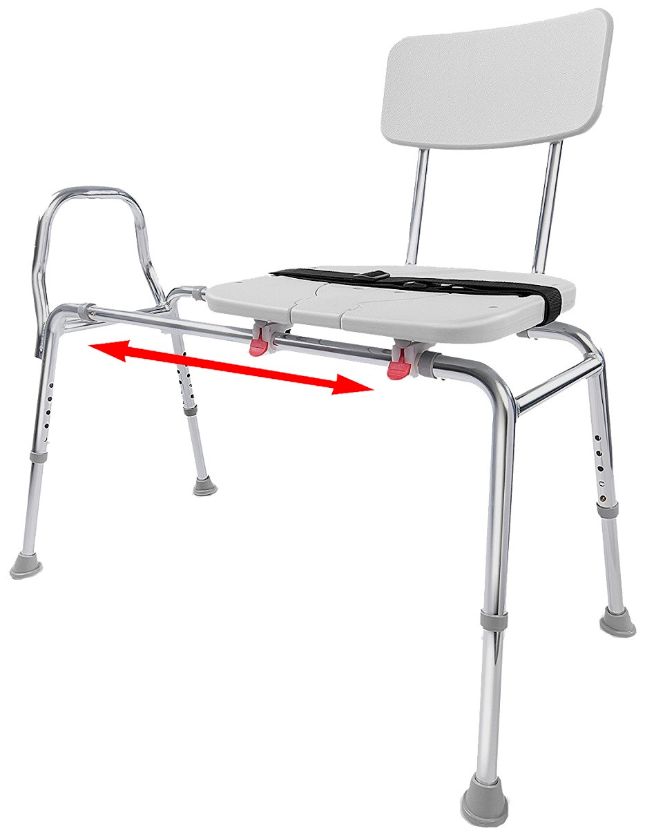 Eagle Health 77311, 77381, 77391 Sliding Transfer Bench with Commode ...