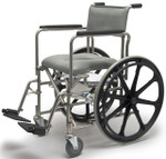 Everest & Jennings Wide Rehab Commode Shower Chair Wheelchair
