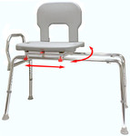 Eagle Health Tall Bariatric Swivel Sliding Bench 56662 56682 56692