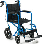 "Deluxe 12"" Rear Wheel Transport Chair by Everest & Jennings EJ870-1 EJ871-1"
