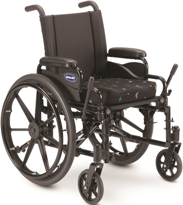 Wheel lock extensions, seat cushion and rear anti-tippers are not standard