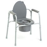 Invacare Lightweight All-In-One Aluminum Commode 96504