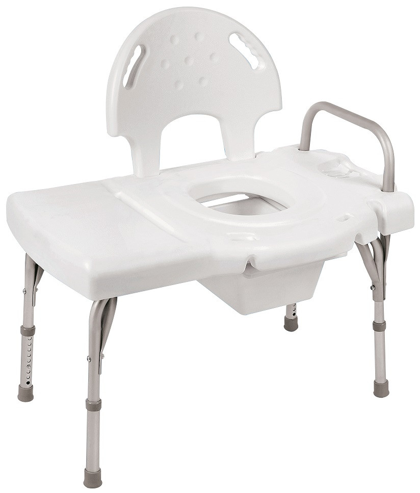 I-Class Heavy Duty Bath Transfer Bench with Commode Opening 9670C by ...