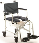 Invacare Mariner Rehab Commode Shower Chair w/ 5'' Casters 6891