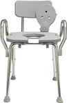 Eagle Health Shower Chair 72331 with Back, Arms & Cut-Out